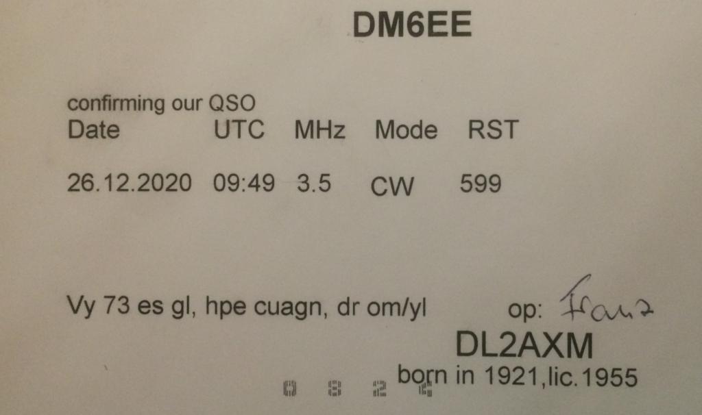 DL2AXM QSO