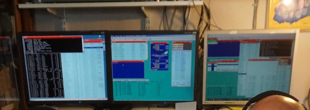 Monitore mit Wintest am 80m Arbeitsplatz